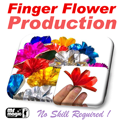 Finger Flower Production (Set of 16) by Mr. Magic - Trick