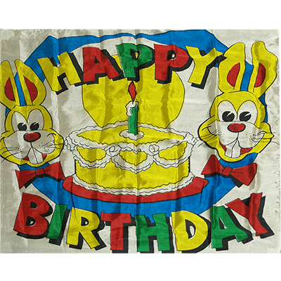 Production Silk 16 inch x 16 inch (Happy Birthday)