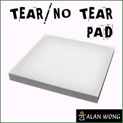 No Tear Pad (Small, 3.5 X 3.5, Tear/No Tear Alternating) by Alan Wong - Trick