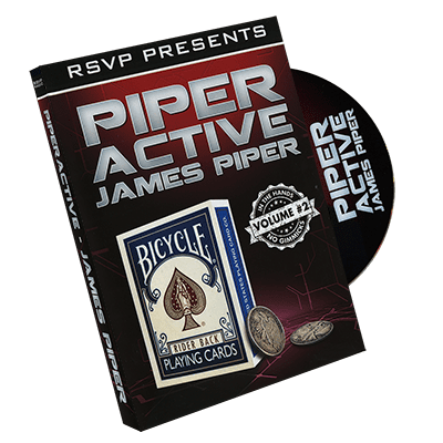 Piperactive Vol 2 by James Piper and RSVP Magic - DVD