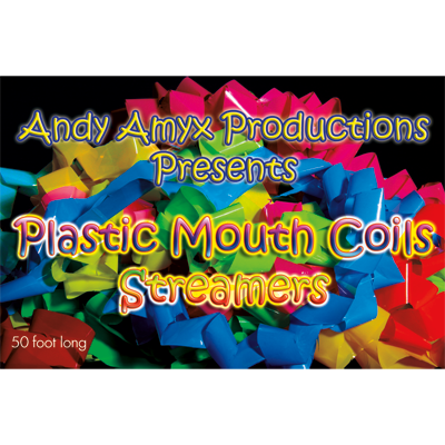 Plastic Mouth Coil (Rainbow) by Andy Amyx - Trick