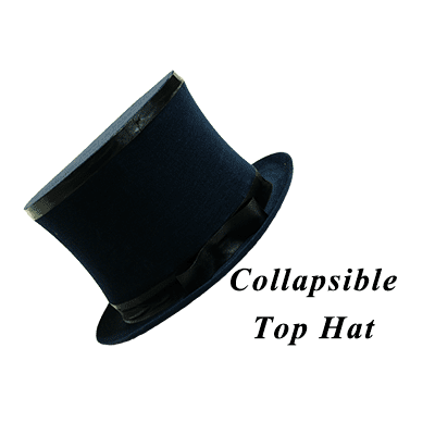 Top Hat Collapsible Premium Magic (Black) - Trick