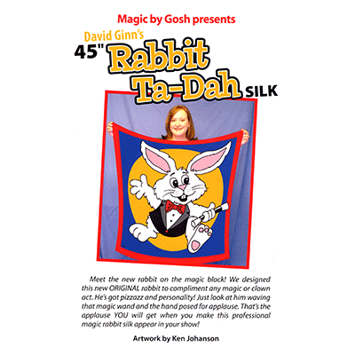 Rabbit Ta-Dah Silk (45 inch) by Goshman - Tricks