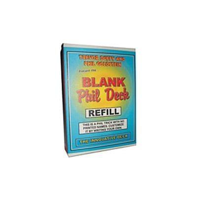 Refill for Blank Phil Deck  by Trevor Duffy - Tricks