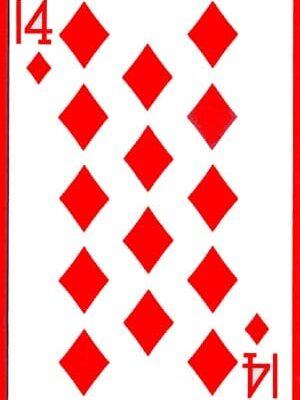 14 of Diamonds Cards (1 card = 1 unit)- Royal
