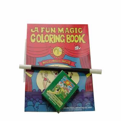 Coloring Book kit-crayon, wand, book by Royal Magic - Trick