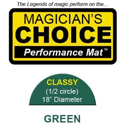 Classy Close-Up Mat (GREEN - 18 inch) by Ronjo - Trick