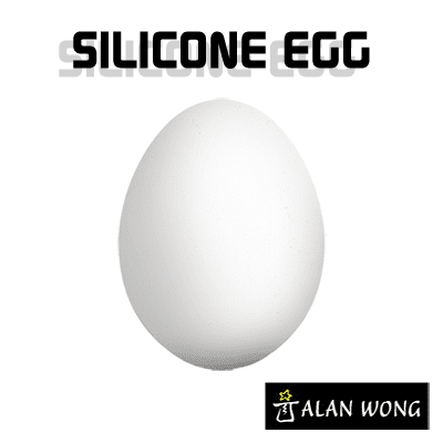 Silicone Egg (White) by Alan Wong - Trick