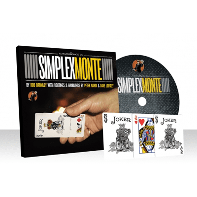 Simplex Monte Blue (Gimmicks and Online Instructions) by Rob Bromley and Alakazam Magic - DVD