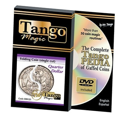 Folding Quarter dollar (Single cut w/DVD) (D0121) by Tango - Trick