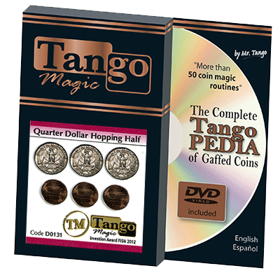Hopping Half with Quarter (w/DVD) (D0131) by Tango - Trick