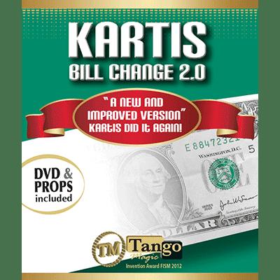 Kartis Bill Change 2.0 (w/DVD) by Kartis and Tango Magic - Trick
