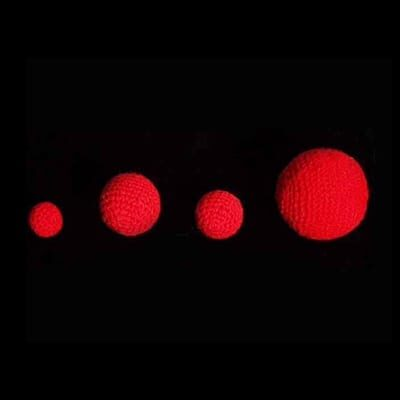 3/4 inch Crochet Balls (Red) (1 ball = 1 unit) by Uday - Trick