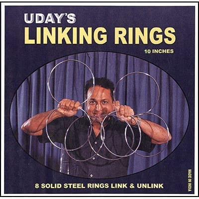 10 inch Linking Rings (8) by Uday - Trick