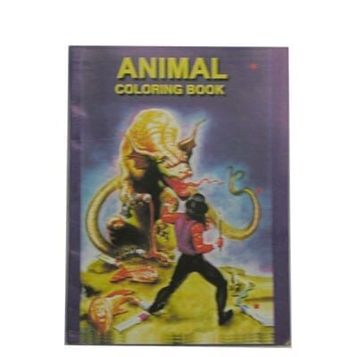 Micro Coloring Book (Animal) size 4x6. by Uday.