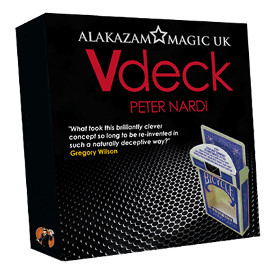 V Deck Blue (with Gimmick and Online Instructions) by Peter Nardi - Trick