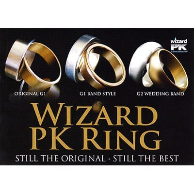 Wizard PK Ring G2 (CURVED, Gold, 16mm) by World Magic Shop - Trick