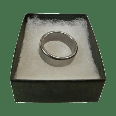 Wizard PK Ring Original (FLAT, SILVER, 16mm) by World Magic Shop - Trick
