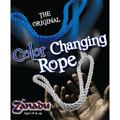 Amazing Color Changing Rope (White to Blue or Yellow) by Zanadu - Trick