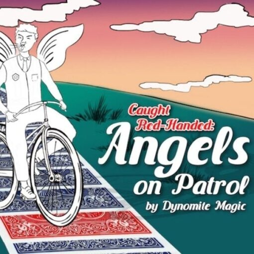 Cartoon police on bicycle