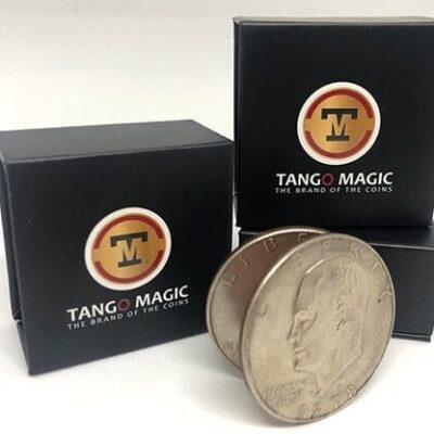 Expanded Eisenhower Dollar Shell (w/DVD)(D0009) by Tango - Trick