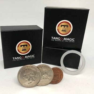Locking Trick 61 cents (w/DVD)(2 Quarters, 1 Dime, 1 Penny) by Tango - Trick (D0130)