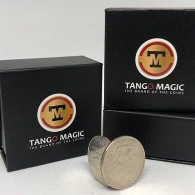 Flipper Coin Pro Elastic System (Quarter Dollar DVD w/Gimmick)(D0148) by Tango - Trick