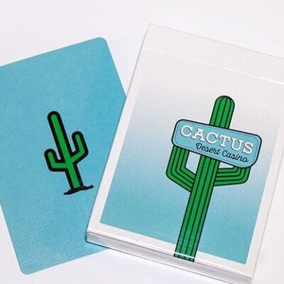 Cactus (Dusty Blue) Playing Cards