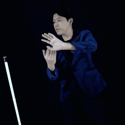 Dancing Vanishing Cane V2 / WHITE  (D.V.C.) by Magiclism