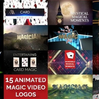 15 Magic Video Logos for Magicians by Wolfgang Riebe mixed media DOWNLOAD