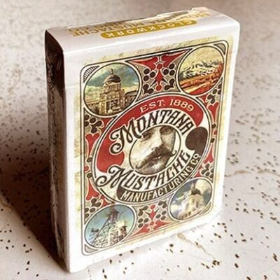 Clockwork: Montana Mustache Manufacturing Co. Playing Cards by fig 23
