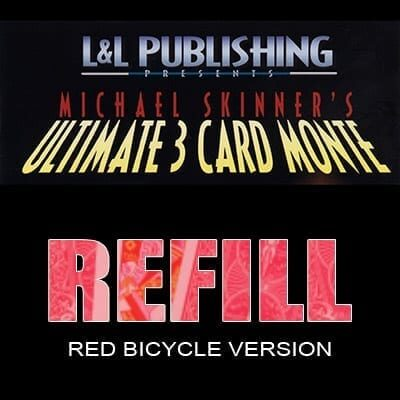 Refill Cards for Ultimate 3 Card Monte (Red) - Trick
