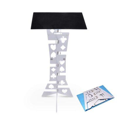 Aluminum Table Silver Black Top