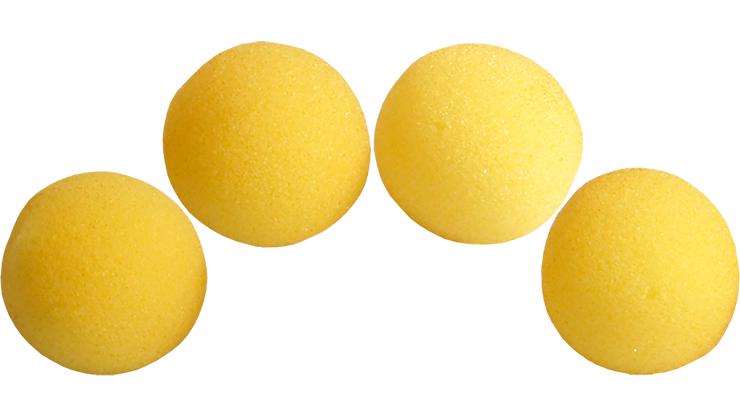2 inch Regular Sponge Ball (Yellow) Pack of 4 from Magic by Gosh