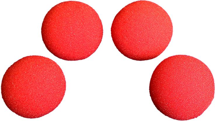 2 inch Regular Sponge Ball (Red) Box of 4 from Magic by Gosh