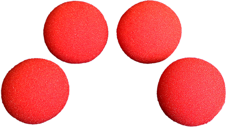 2.5 inch Super Soft Sponge Ball (Red) Pack of 4 from Magic by Gosh