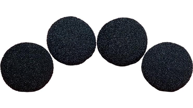 2 inch Regular Sponge Ball (Black) Pack of 4 from Magic by Gosh