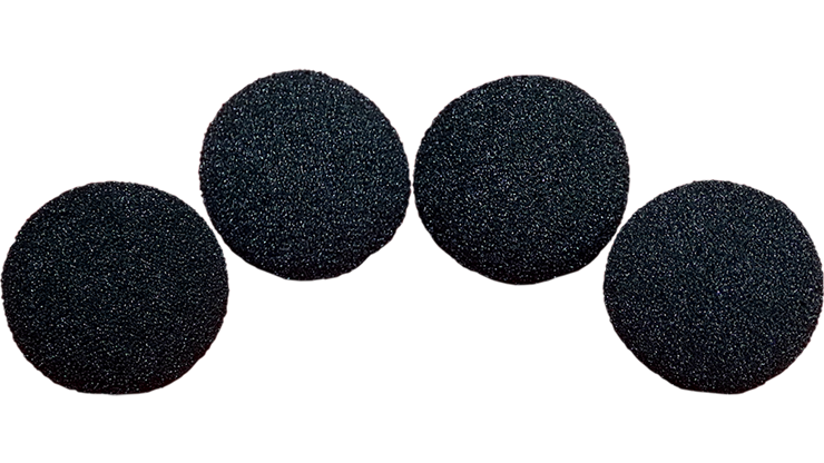 2 inch Super Soft Sponge Ball (Black) Pack of 4 from Magic by Gosh
