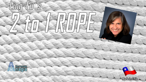 2 TO 1 Rope (White) by Aprendemagia - Trick