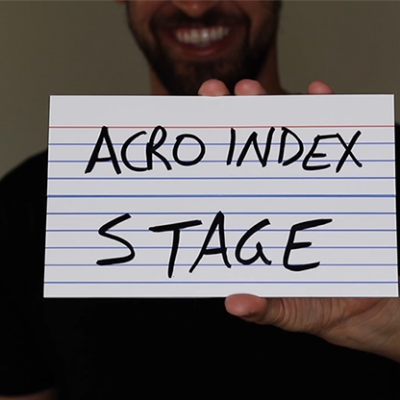 """Acro Index Dry Erase Large 5""""x8""""(Gimmicks and Online Instructions) by Blake Vogt - Trick"""